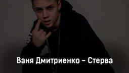 vanya-dmitrienko-sterva-tekst-i-klip-pesni